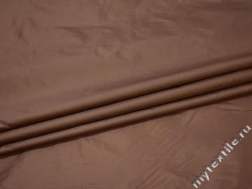 Курточная коричневая ткань полиэстер ДЁ345
