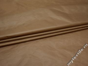 Курточная коричневая ткань полиэстер ДЁ328