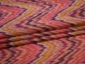Курточная розовая желтая ткань абстракция полиэстер ДЁ321