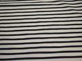 Курточная синяя бежевая ткань полоска полиэстер ДЁ313