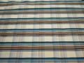Курточная голубая коричневая ткань полоска полиэстер ДЁ34