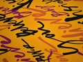 Вискоза желтая малиновая надписи ДЁ31