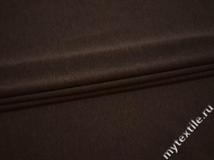 Трикотаж коричневый полиэстер АИ535