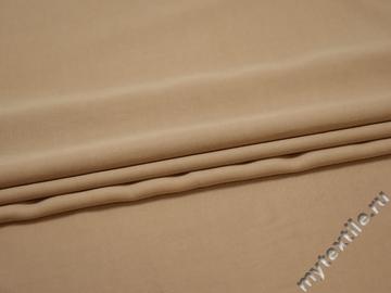 Плательная бежевая ткань хлопок ЕА548