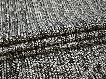 Костюмная черная белая ткань полиэстер ЕА552