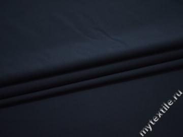 Костюмная синяя ткань полиэстер эластан ЕА553
