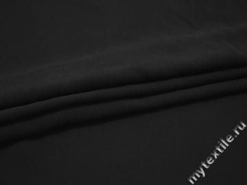 Плательная черная ткань вискоза хлопок ЕА545