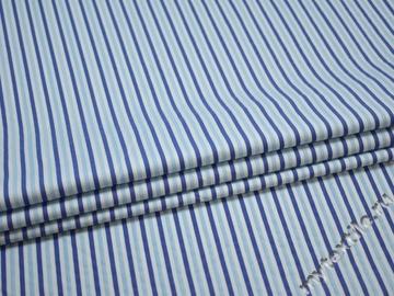 Плательная синяя голубая ткань полиэстер ЕБ541
