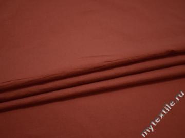 Рубашечная терракотовая ткань вискоза хлопок ЕБ496
