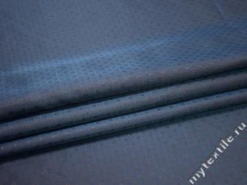 Подкладочная-жаккард синяя коричневая ткань круги вискоза ацетат ГА2204