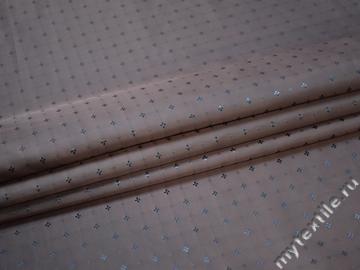 Подкладочная-жаккард синяя ткань узор вискоза ацетат ГА2207