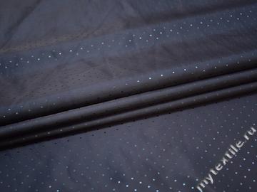 Подкладочная-жаккард синяя ткань горох вискоза ацетат ГА2230