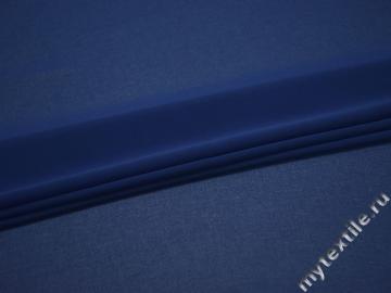 Шифон синий полиэстер БД625