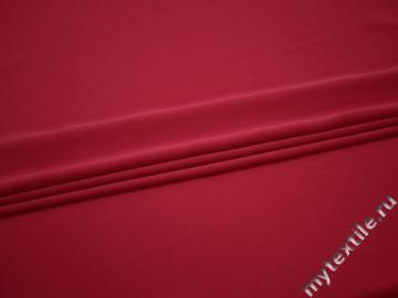 Костюмная малиновая ткань полиэстер эластан БД639