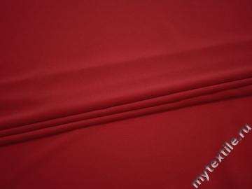 Плательный креп красный полиэстер БД635