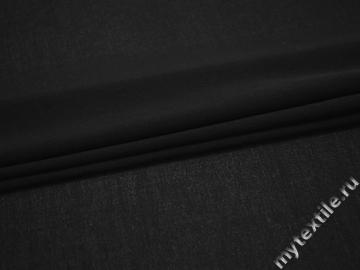 Плательная черная ткань хлопок эластан БД629