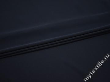 Плательный креп синий полиэстер БЕ660