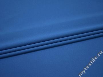 Плательный креп синий полиэстер БЕ656