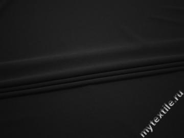 Плательный креп черный полиэстер эластан БЕ651