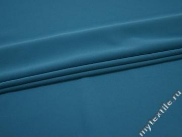 Плательный креп голубой полиэстер эластан БЕ644