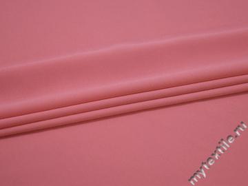 Плательный креп розовый полиэстер эластан БЕ643