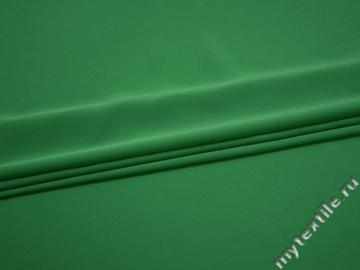 Плательный креп зеленый полиэстер эластан БЕ639