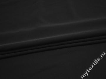 Плательный креп черный полиэстер БЕ635