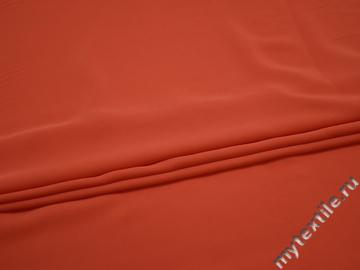 Плательная красная ткань полиэстер эластан БЕ64