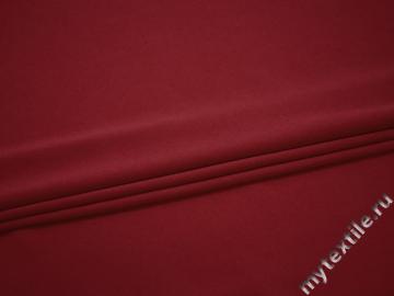 Плательный креп бордовый полиэстер эластан БЕ615