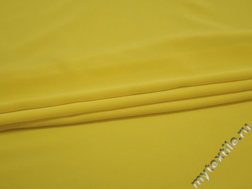 Плательный креп желтый вискоза полиэстер БЕ613