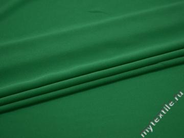 Плательный креп зеленый полиэстер эластан БЕ68