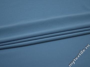 Плательный креп голубой полиэстер эластан БЕ62