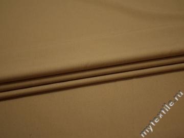 Костюмная бежевая ткань шелк полиэстер ГД185