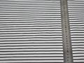 Рубашечная белая серая ткань в полоску хлопок ЕВ269