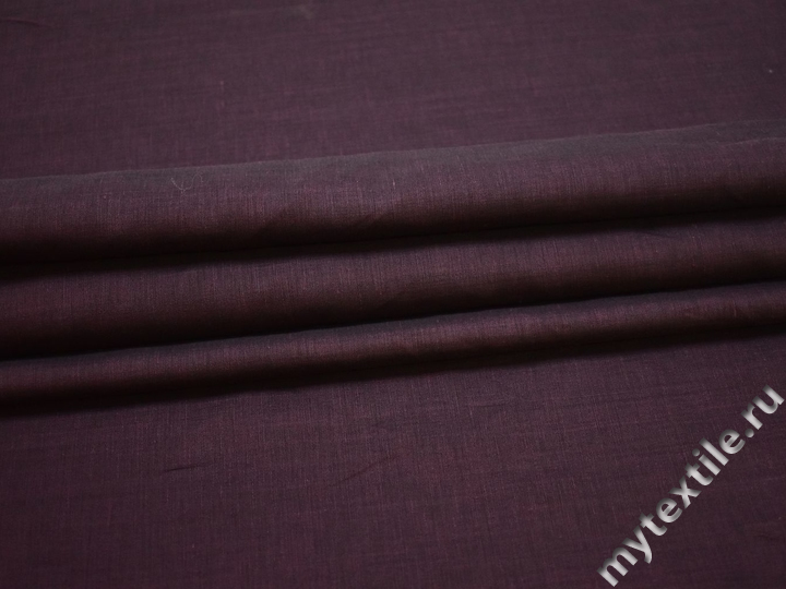 Рубашечная бордовая ткань вискоза полиэстер ЕВ275