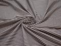 Рубашечная коричневая белая ткань полоска хлопок эластан ЕВ247