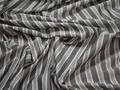 Батист серый белый полоска хлопок ЕВ231