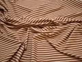 Рубашечная терракотовая молочная ткань полоска хлопок ЕВ228