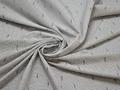 Рубашечная серая белая ткань полоска хлопок ЕВ224