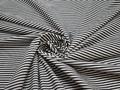 Рубашечная серая белая ткань полоска хлопок ЕВ221