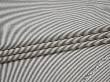 Рубашечная серая белая полоска хлопок ЕВ21