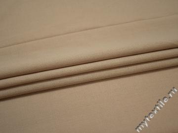 Костюмная бежевая ткань шелк полиэстер ГД183