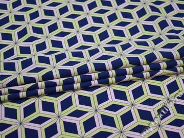Плательная ткань с геометрическим узором полиэстер ЕБ474