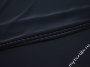 Шёлк-атлас синий полиэстер БД655