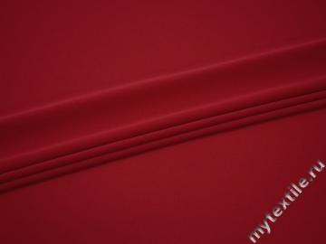Плательный креп красный полиэстер БД643