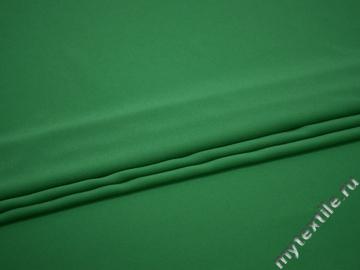 Плательный креп зеленый полиэстер эластан БД650