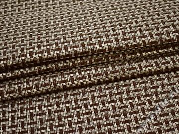 Обивочная рогожка коричневая серая полиэстер ЕВ54