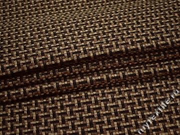 Обивочная рогожка коричневая черная полиэстер ЕВ57