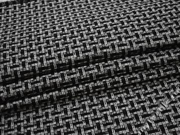 Обивочная рогожка черная серая хлопок полиэстер ЕВ513