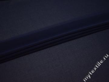 Шифон синий полиэстер ГБ66
